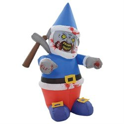 Giant 5' Inflatable Zombie Gnome Icepick Halloween Decoration
