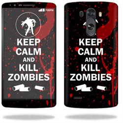 Mightyskins Protective Vinyl Skin Decal Cover for LG G3 Cell Phone wrap sticker skins Kill Zombies