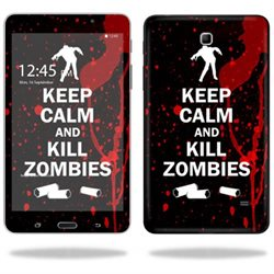 Mightyskins Protective Vinyl Skin Decal Cover for Samsung Galaxy Tab 4 7 Tablet T230 skins wrap sticker skins Kill Zombies