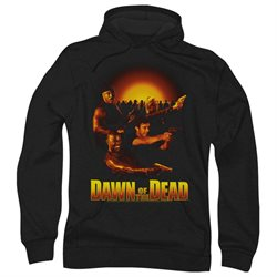Dawn Of The Dead SciFi Zombie Movie Dawn Collage Adult Pull-Over Hoodie