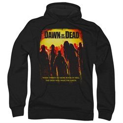 Dawn Of The Dead Science Fiction Zombie Movie Title Adult Pull-Over Hoodie