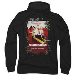 Shaun Of The Dead Zombie Drama Comedy Movie Poster Adult Pull-Over Hoodie