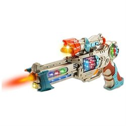 Techege Toys Fun Toy Gun with Colorful Flashing and Spinning Lights and Fun Shooting Sounds- Also Ha