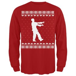 Big Zombie Ugly Christmas Sweater Long Sleeve T-Shirt