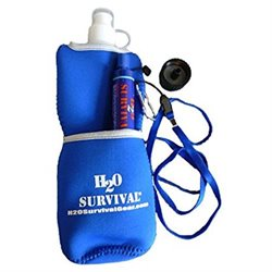 H2O Survival(tm) Water Filter Travel Straw MAX. ForeignDomestic Water Filter Straw. 99.9999% Effect