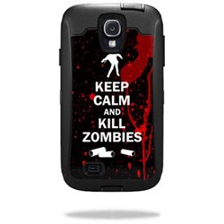 Mightyskins Protective Vinyl Skin Decal Cover for OtterBox Defender Samsung Galaxy S4 Case wrap sticker skins Kill Zombies