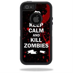 Mightyskins Protective Vinyl Skin Decal Cover for OtterBox Defender iPhone 5/5s/SE Case wrap sticker skins Kill Zombies