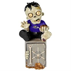 Baltimore Ravens Zombie Figurine Bank by Forever Collectibles