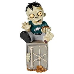 Philadelphia Eagles Zombie Figurine Bank by Forever Collectibles