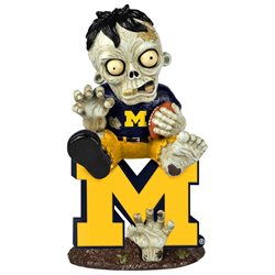 Michigan Wolverines Zombie Figurine - On Logo w/Football by Forever Collectibles