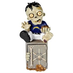 San Diego Chargers Zombie Figurine Bank by Forever Collectibles