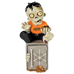 Oklahoma State Cowboys Zombie Figurine Bank by Forever Collectibles