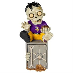Minnesota Vikings Zombie Figurine Bank by Forever Collectibles