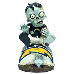 San Diego Chargers Zombie Figurine - On Logo by Forever Collectibles