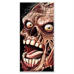 Club Pack of 12 Halloween Themed Zombie Door Cover Party Decorations 5'