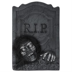 Pack of 6 Haunted Halloween 3-D Zombie R.I.P. Tombstone Decorations 20