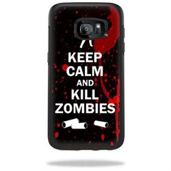 MightySkins Protective Vinyl Skin Decal for OtterBox Symmetry Samsung Galaxy S7 Edge Case wrap cover sticker skins Kill Zombies