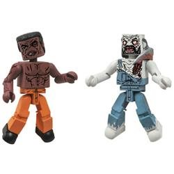 The Walking Dead Minimates Series 3: Tyreese and Farmer Zombie (Set of 2), Fantasy, Boy, 3D, And Up