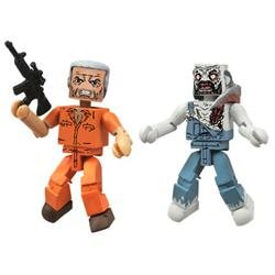The Walking Dead Minimates Series 3: Hershel and Farmer Zombie (Set of 2), Fantasy, Boy, 3D, And Up