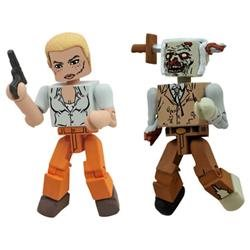 The Walking Dead Minimates Series 2: Andrea and Zombie Lurker (Set of 2), Fantasy, Boy, 3D, 14 Years
