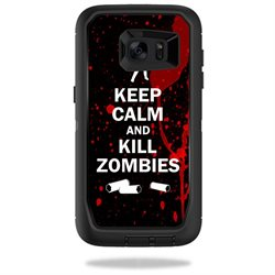 MightySkins Protective Vinyl Skin Decal for OtterBox DefenderSamsung Galaxy S7 Edge Case wrap cover sticker skins Kill Zombies