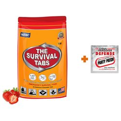 2-Day Survival 24 Tabs Strawberry Emergency Food Replacement + Hangover Relief Party Patch Hangover Treatment Hangover Release Patch Combo