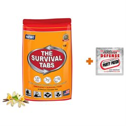 2-Day Survival 24 Tabs Vanilla Emergency Food Replacement + Hangover Relief Party Patch Hangover Treatment Hangover Release Patch Combo