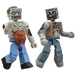 Walking Dead Minimates Series 1 - Burned Zombie and Guts Zombie