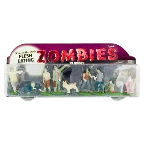 Accoutrements Glow in the Dark Flesh Eating Zombies Play Set - Theme/Subject: Fun