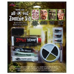 Family Size Zombie Makeup Kit by FunWorld 9571