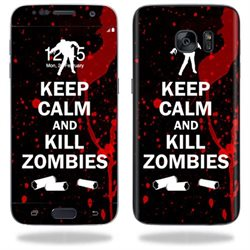 MightySkins Protective Vinyl Skin Decal for Samsung Galaxy S7 wrap cover sticker skins Kill Zombies