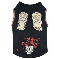 Pets Supply - Dog T-Shirt - The Walking Dead Daryl Wings Small S TWD213