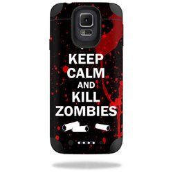 Mightyskins Protective Vinyl Skin Decal Cover for Mophie Juice Pack Samsung Galaxy S5 Cover wrap sticker skins Kill Zombies