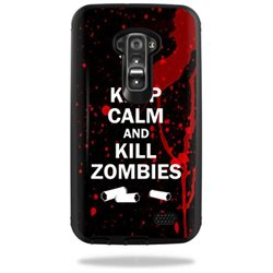 Mightyskins Protective Vinyl Skin Decal Cover for Otterbox Defender LG G Flex Case cover wrap sticker skins Kill Zombies