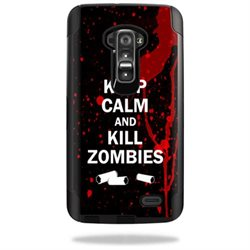 Mightyskins Protective Vinyl Skin Decal Cover for Otterbox Commuter LG G Flex Case cover wrap sticker skins Kill Zombies
