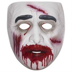 Transparent Bloody Mouth Zombie Halloween Costume Mask