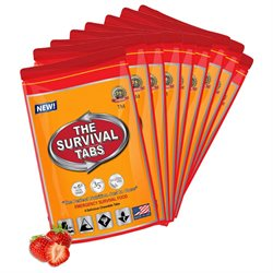 Survival Tabs 3-Day Food Supply 36 Tabs - Strawberry Flavor - Gluten Free and Non-GMO