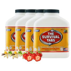 Survival Tabs 60-Day Food Supply - Vanilla and Strawberry Flavor - Gluten Free and Non-GMO