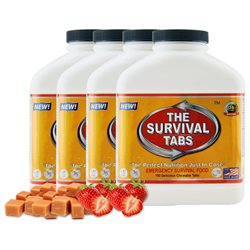 Survival Tabs 60-Day Food Supply - Strawberry and Butterscotch Flavor - Gluten Free and Non-GMO