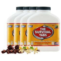 Survival Tabs 60-Day Food Supply - Vanilla and Chocolate Flavor - Gluten Free and Non-GMO