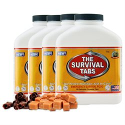 Survival Tabs 60-Day Food Supply - Chocolate and Butterscotch Flavor - Gluten Free and Non-GMO