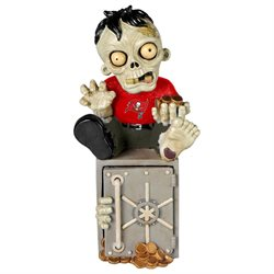 Tampa Bay Buccaneers Official NFL 14.5 inch x 7.5 inch Zombie Figurine Bank by