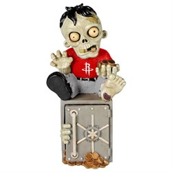 Houston Rockets Zombie Figurine Bank by Forever Collectibles