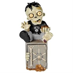 New Jersey Nets Zombie Figurine Bank by Forever Collectibles