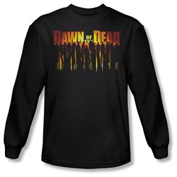 Mens DAWN OF THE DEAD Long Sleeve WALKING DEAD Large T-Shirt Tee