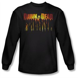 Mens DAWN OF THE DEAD Long Sleeve WALKING DEAD XLarge T-Shirt Tee