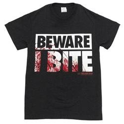 The Walking Dead Beware I Bite Reversible Costume Adult Black T-shirt