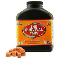 Survival Tabs Zombie, Tewtwawki Food - 15-Day Food Supply - Emergency Survival, Ration, Gluten-Free, Non-GMO The Survival Tabs 25 Years Shelf Life (180 tablets/Black Bottle/Butterscotch)
