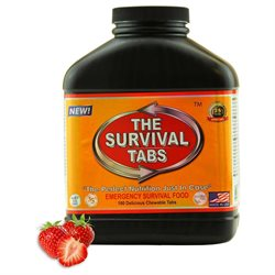 Survival Tabs Zombie, Tewtwawki Food - 15-Day Food Supply - Emergency Survival, Ration, Gluten-Free, Non-GMO The Survival Tabs 25 Years Shelf Life (180 tablets/Black Bottle/Strawberry)