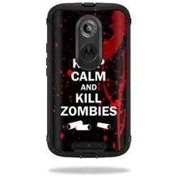 Mightyskins Protective Vinyl Skin Decal Cover for OtterBox Defender Moto X (2nd Gen 2014) Case cover wrap sticker skins Kill Zombies